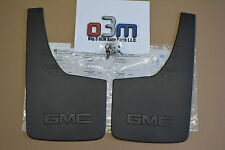2014-2016 GMC Sierra 1500 Rear Splash Guards Mud Flaps GMC Logo new OEM 22894868