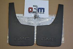2014-2016 GMC Sierra 1500 Rear Splash Guards Mud Flaps GMC Logo new OEM 22894868