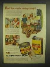 1946 Johnson's Liquid Wax, Paste Wax Ad - Shining