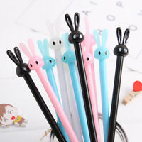 4Pcs School Office Cute Rabbit Gel Pens Ball Point Pen Roller Pens,0.38mm