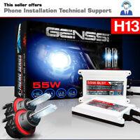 AC 55W HID Kit H13 9008 Bi-Xenon 10000K Ultra Blue White Beam Conversion Light