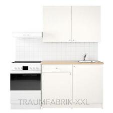 Küchenzeile Küche Küchenblock 120 cm breit weiß mit Arbeitsplatte Spüle NEU