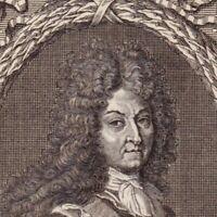 Portrait XVIIIe Louis XIV Bourbon Dieudonné Roi France Navarre Roi Soleil