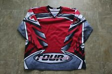 Tour Hockey Jersey Adult XL Red Black Gray