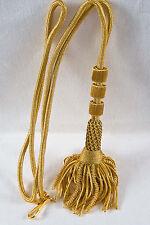 "NEW 32"" GOLD Bishop Tassel Pectoral Cord, Clergy Vestment"