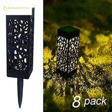 Maggift 8 Pcs Solar Powered LED Garden Lights, Automatic Led for Patio, Yard and