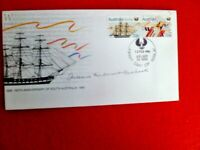 150TH SOUTH AUST HAND SIGNED FDC OLDEST LIVING DESCENDANT OF GOVERNOR HINDMARSH