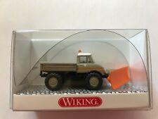 """WIKING 037177 H0-Unimog U 406 mit Schneeschild """"Schlotmann"""""""