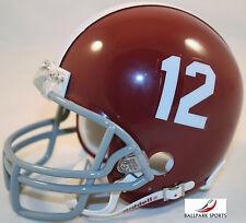 ALABAMA CRIMSON TIDE #12 - Riddell VSR4 Mini Helmet