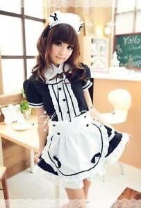 Classic Akihabara maid cosplay costume Lolita light tone maid uniform temptation