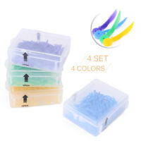 Dental Plastic Poly Wedges with Holes Round Stern 4 Colors 4 Sizes Total 400PCS