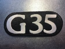 """Infiniti G35 Journey Sport AWD High Quality Embroidered Car Patch 4.25"""" Black"""
