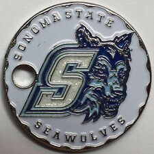 Sonoma State University Seawolves Pathtag Coin Geocoin Geocache Metal