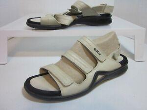 ECCO Light   Beige Leather Sandals  Women's  41 / 10