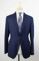 NWT BELVEST Blue Wool Unstructured 2 Button Sport Coat Size 50/40 R Drop 8 $1995