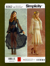 Lace Tops & Skirts Sewing Pattern~Cosplay/Steampunk (Size 6-14) Simplicity 8362