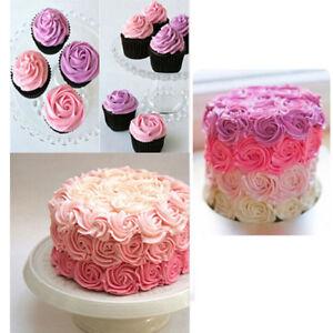 # 1B Große Rose Blume Creme Zuckerglasur-friedliche Düse Edelstahl Gebäck Tipps