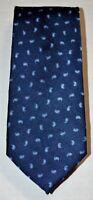 CLUB ROOM Dark and Light Blue Silver Gray Small Paisley Print 100% Silk Neck Tie