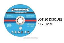 10 DISQUE 125 MM A TRONCONNER LE METAL ° 125 X 3 X 22.2 MM POUR TOUTE MEULEUSE