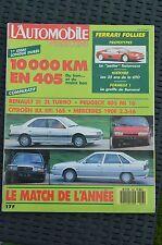 Magazine L'Automobile 493 Renault 21 Turbo 405 Mi 16 BX GTI 16s Mercedes 2.3-16