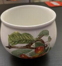 Portmeirion Pomona Sugar Bowl  Peach/Cherry/Plum Fruit.  Good Condition
