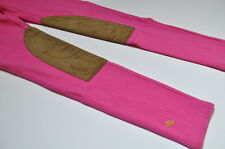 Ralph Lauren Womens Equestrian Stretch Faux Suede Pink Leggings Size Small