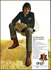 1970 Joe Namath photo NY Jets Dingo Boots shag rug vintage Print Ad ads20