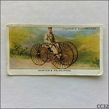 John Player Cycling #4 Sawyer's Velocipede 1939 Cigarette Card (CC32)