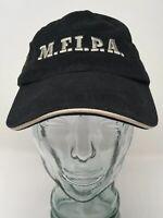 Monkey First IPA Shipyard Brewing Baseball Cap Hat Cotton Black OSFM Strap Back