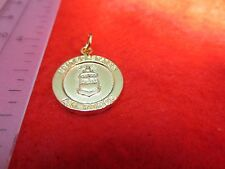 14 KT GOLD PLATED  AIR FORCE/ ST. CHRISTOPHER  TWO SIDED MILITARY CHARM PENDANT