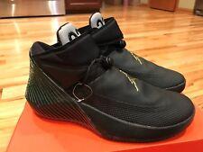 Nike Air Jordan Why Not Zer0.1 Black Iridescent Green aa2510 011 Size 9 SAMPLE