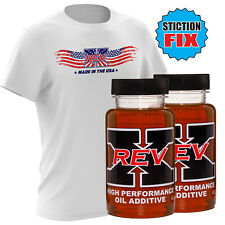 REV-X Powerstroke Stiction Fix Oil Additive Treatment Kit - HEUI + REVX T-Shirt