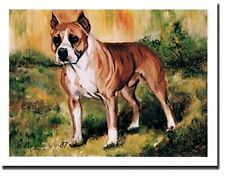 American Staffordshire Bull Terrier Profile Notecards 6 Note Cards Ruth Maystead