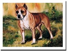 American Staffordshire Bull Terrier Side View Notecards 6 Note Cards 6 Envelopes