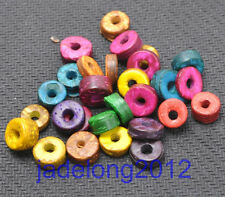 Wholesale 100pcs Colorful Charm Coconut Shell Spacer Beads NH808