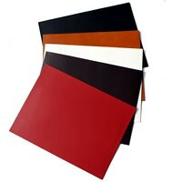Roco Verre Real Leather Rectangle Place Mats Black Brown Red White Tan 25 x 30cm