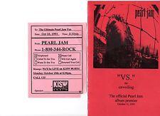 PEARL JAM 1993 VS. THE UNVEILING ALBUM PREMIER PROGRAM