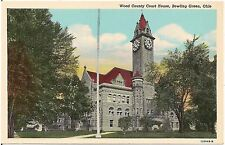 Wood County Court House in Bowling Green OH Postcard