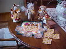 LOT MUFFY AND HOPPY VANDERBEAR PICNIC IN PROVENCE LULU OATSIE & BASKET SET