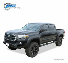 BLACK PAINTABLE Pocket Rivet Bolt Fender Flares 2016 Toyota Tacoma Complete Set