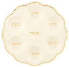 Lenox Judaic Blessings Seder Plate, White New in Box