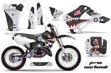 Dirt Bike Decal Graphics Kit Wrap For Kawasaki KX125 KX250 1999-2002 WARHAWK BLK