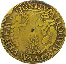 O3500 RARE Jeton Henri III Seigneur Epee Femme nue attachée à un cadenas