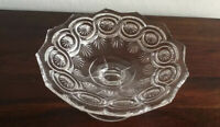Stunning  Vintage Clear Glass Footed Sweets Bowl