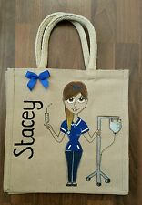 Personalised medium bag nurse health worker midwife doctor  great gift new job
