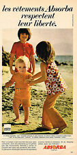 PUBLICITE ADVERTISING 045  1971  ABSORBA   vetements pour enfants 3