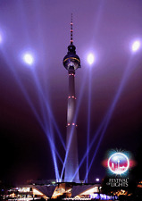3 -D - Wackelkarte: Berlin - Festival of Lights: Fernsehhturm - Televison Tower