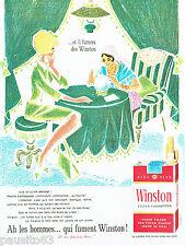 PUBLICITE ADVERTISING 016  1964  Winston cigarettes boule de cristal