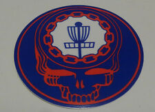 """New-1-4"""" Disc Golf Sticker-Ace Your Face-Red-White & Blue"""