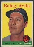 1958 Topps #276 Bobby Avila EX/EX+ Indians 22345